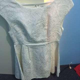 Paper Scissors Embossed Lace Dress 8