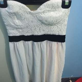 Free Fusion Strapless Dress Lace