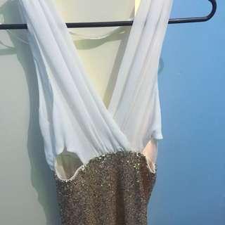 Morning Mist Boutique Sequin Cutout Dress