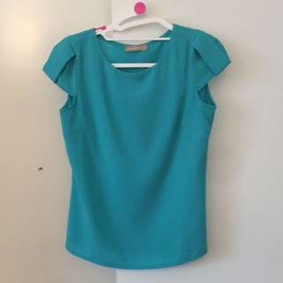 Ladies Blue Top/shirt, Size 8