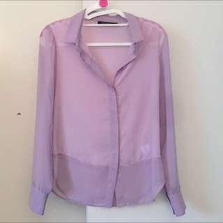 Portmans Ladies Purple Shirt/top. Size 8
