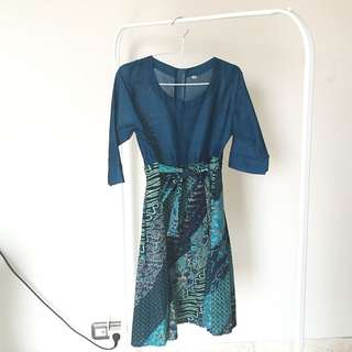 New Teal Green Batik Dress