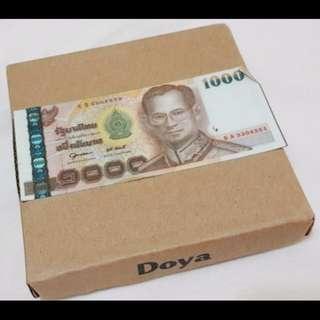泰國紙鈔皮夾~泰銖1000元版本!泰國帶回(全新附外盒)