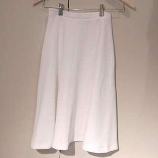Asos Petite White Scuba Midi Skirt Size 4