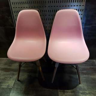 Pair Of Pink Eames Replica