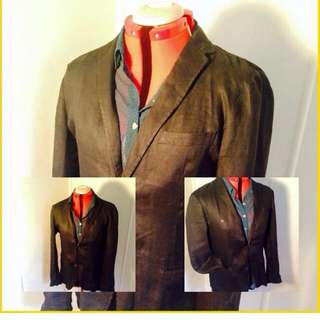 100% French Linen Jacket , Uni Qlo