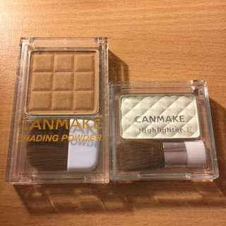 Canmake Bronzer and Highlighter