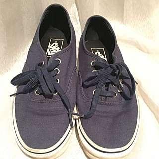 Unisex Vans Navy Shoes