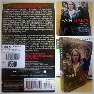 Fair Game. Author: Valerie Plame Wilson