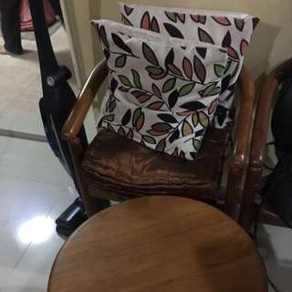 Pre-loved Solid Wood table & Chairs Set