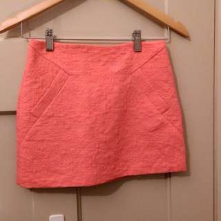 Topshop pink mini skirt