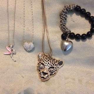 Necklaces + Bracelet