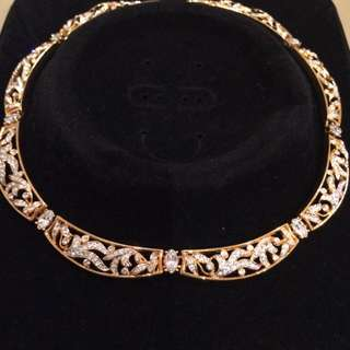 Gold Tone Diamanté Necklace