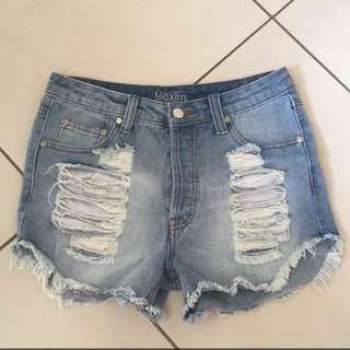 Maxim High Waters Denim Shorts