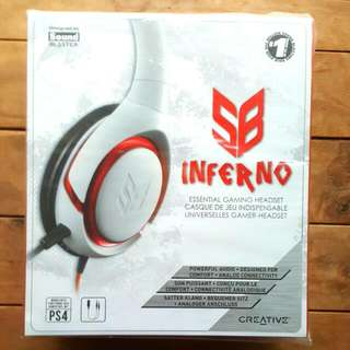 Creative SB Inferno HEADPHONES for Gaming *GREAT PRICE FOR GREAT SOUND* (U.P. $79)