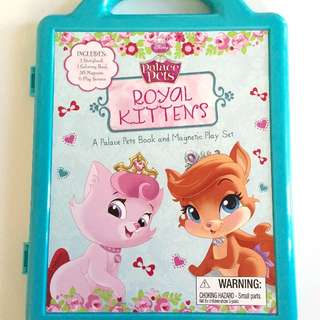 EXCELLENT CONDITION! DISNEY PETS ROYAL KITTENS MAGNETIC PLAY SET - REG. $15! ANOTHER PIC IN COMMENTS...