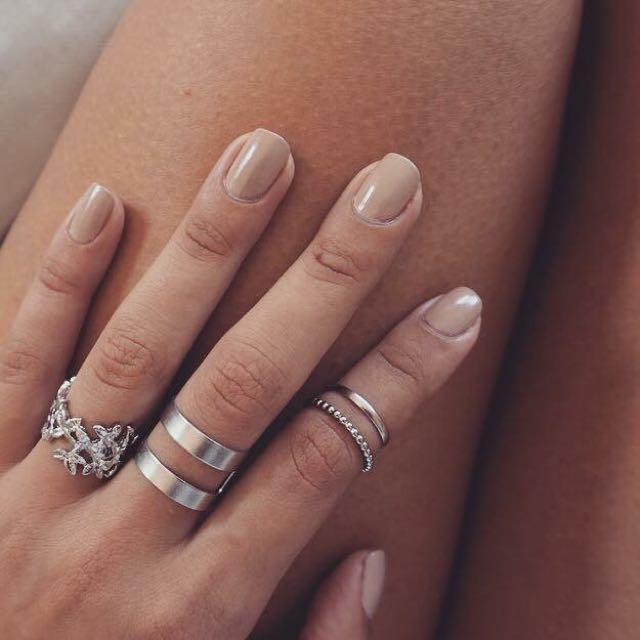 3 Set Silver Rings
