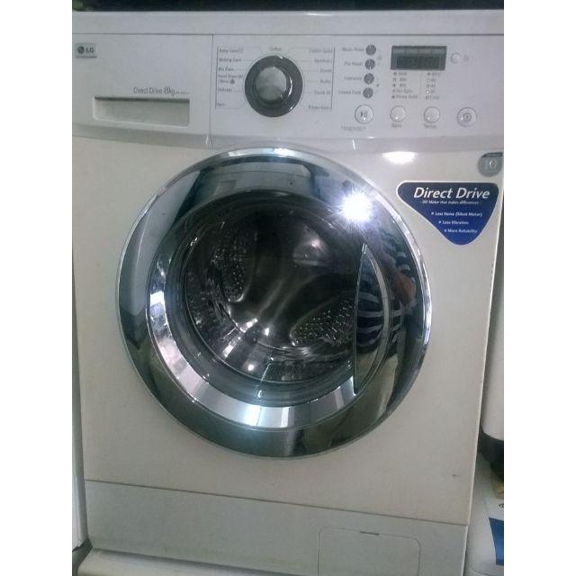 8kg Front Load Direct Drive Lg Washing Machine Mesin Basuh