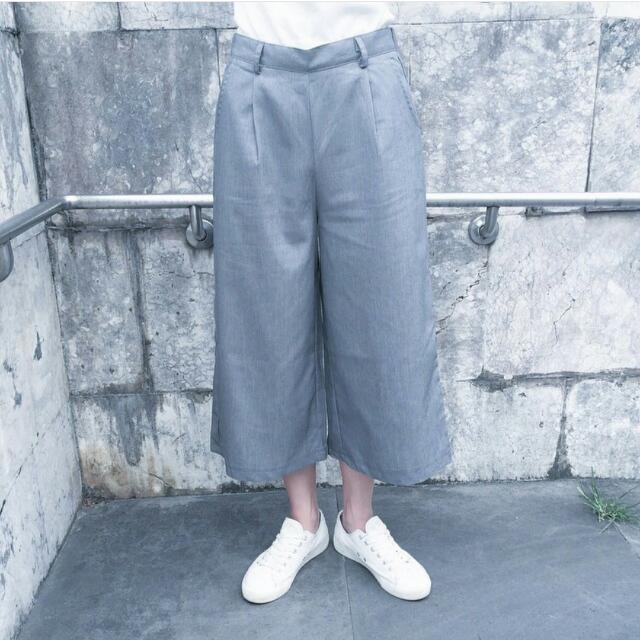 高腰西裝寬褲