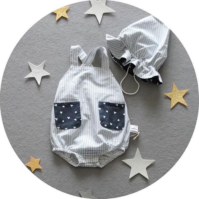 新生兒 ✨吊帶包屁衣+遮陽帽✨