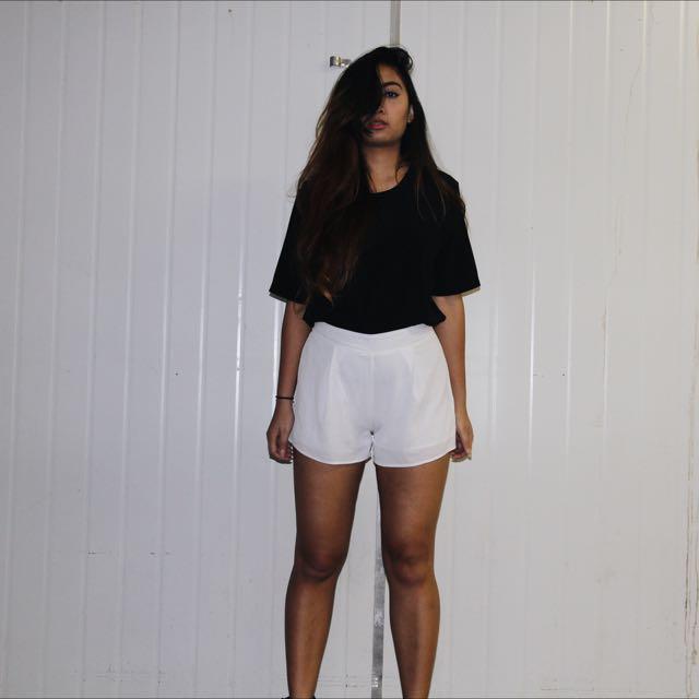 Ache White Shorts