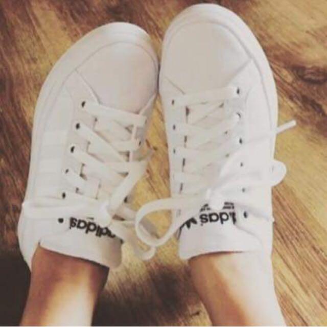 Adidas復古厚底鞋