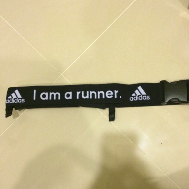 Adidas 慢跑 反光 跑步腰帶