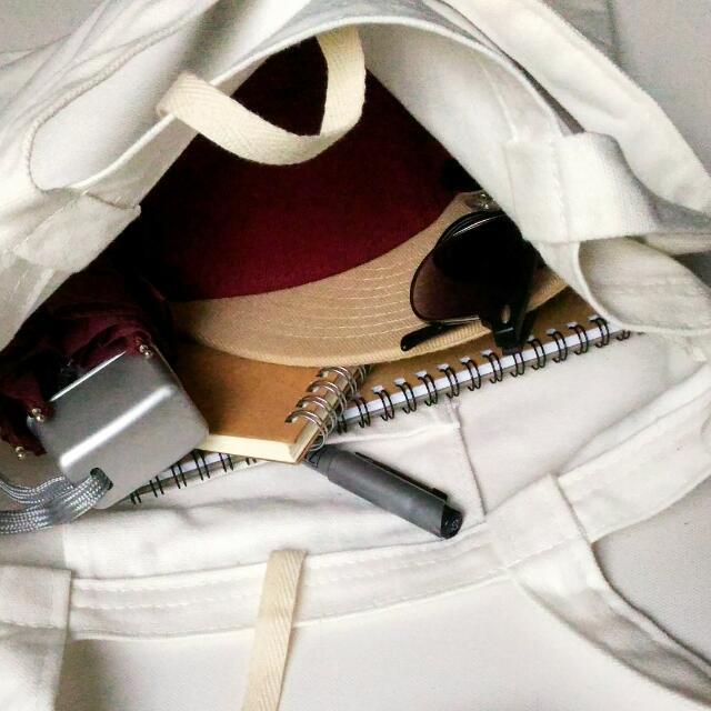ARTE Canvas Tote Bag 2-Way | Off-White