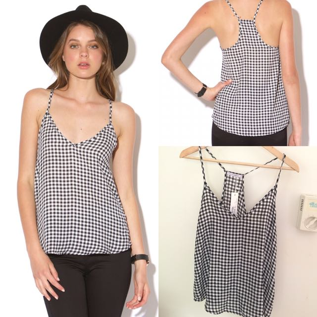 BNWT Luck & Trouble Gingham Singlet