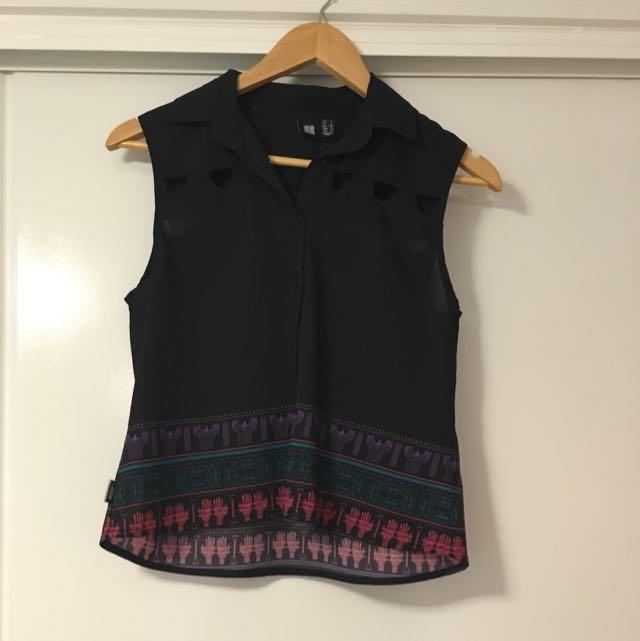 Insight, Black Button Up Shirt