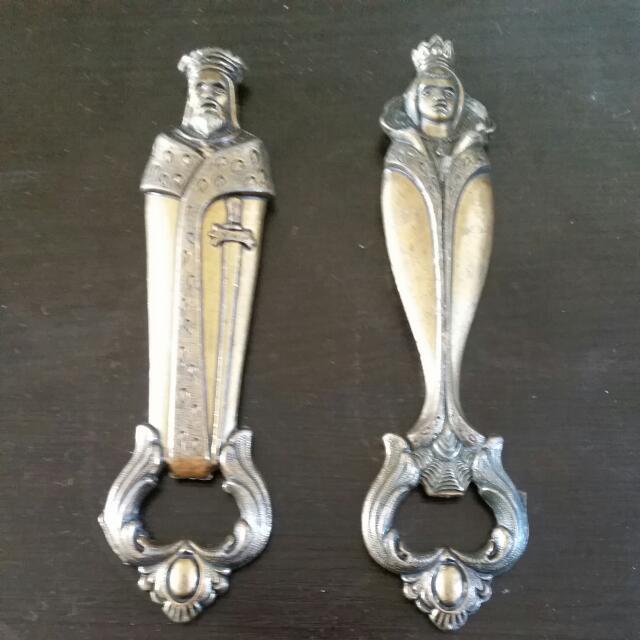 Italian King &Queen Bottle Openers.
