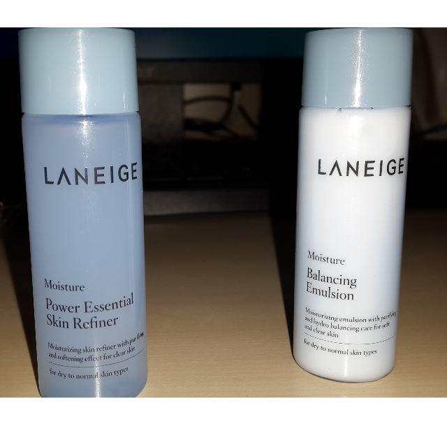 LANEIGE SAMPLE Balancing Emulsion & Power Essential Skin Refiner
