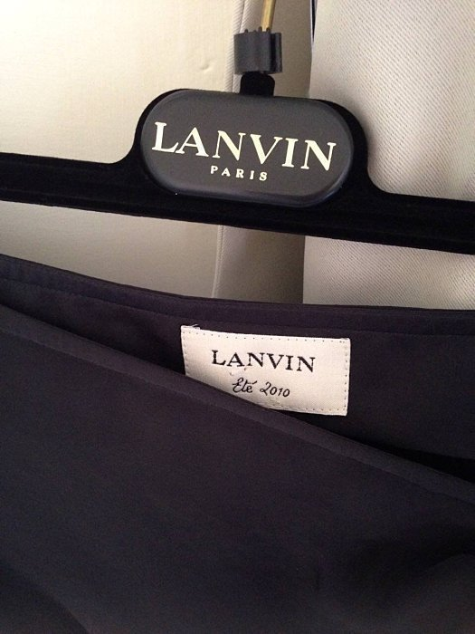 LANVIN Runway Wrap Ruched Skirt Retails at $2835