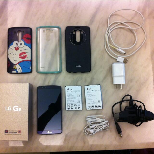 LG G3 32GB D855 32G 紫色  ~ 9成新 ~配件齊全 CP值高