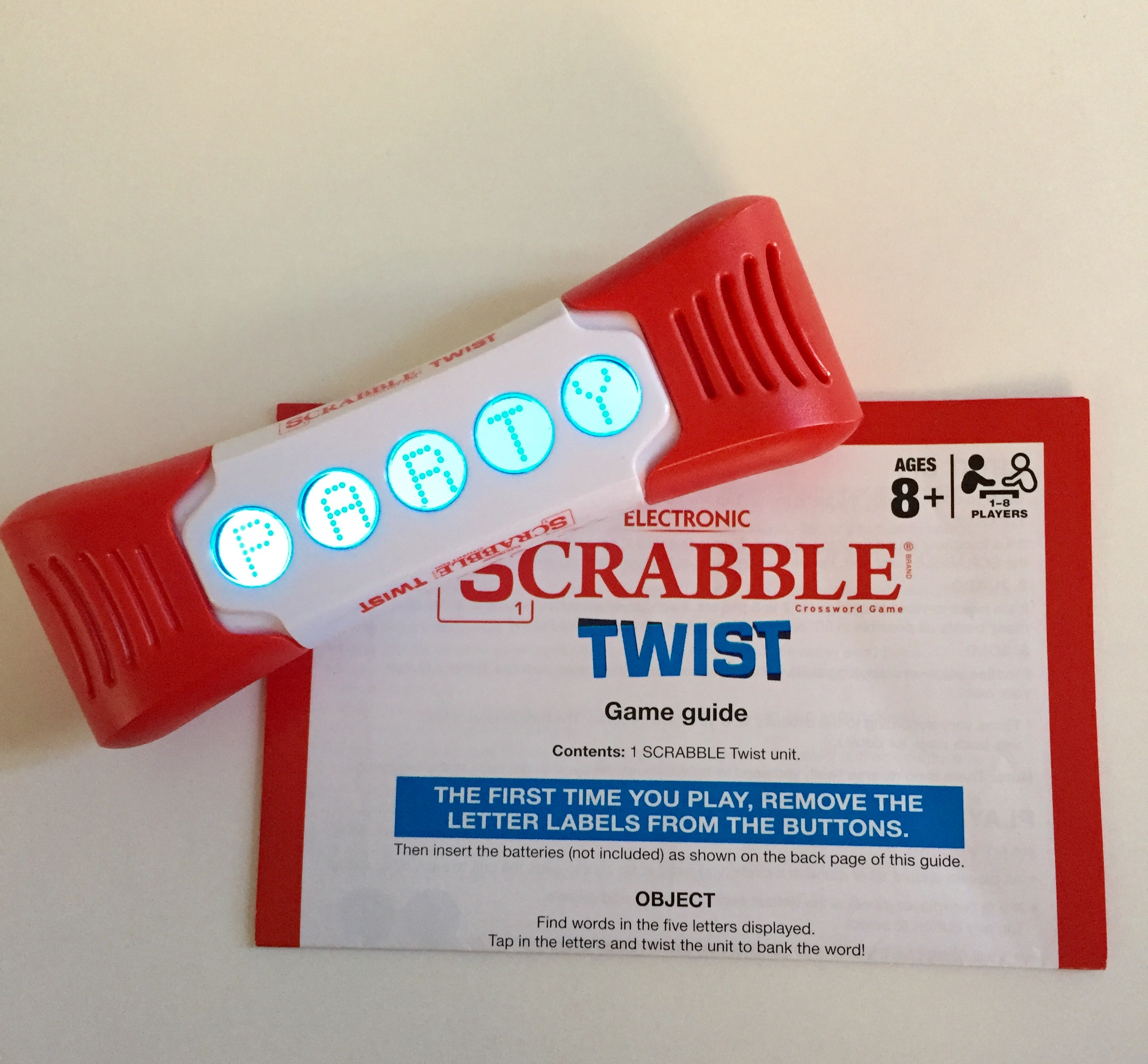Like new! Electronic Scrabble Twist - bought last month - $19.94 on amazon.ca - fresh batteries and instructions included - barely used!