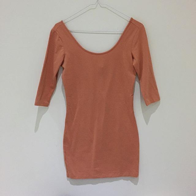 Low Cut Back Dress