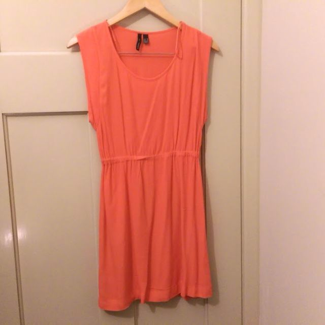 Mango coral dress