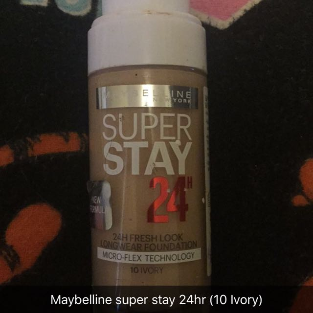 Maybelline Super Stay 24 Hr Foundation 10 Ivory