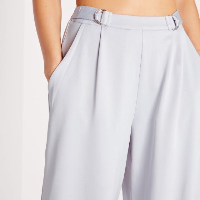 Missguided Grey Buckle Culottes