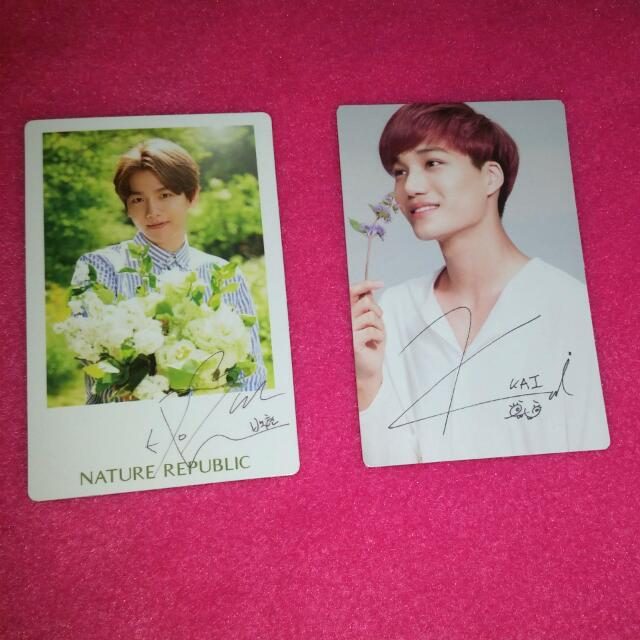 EXO Nature Republic Photocards