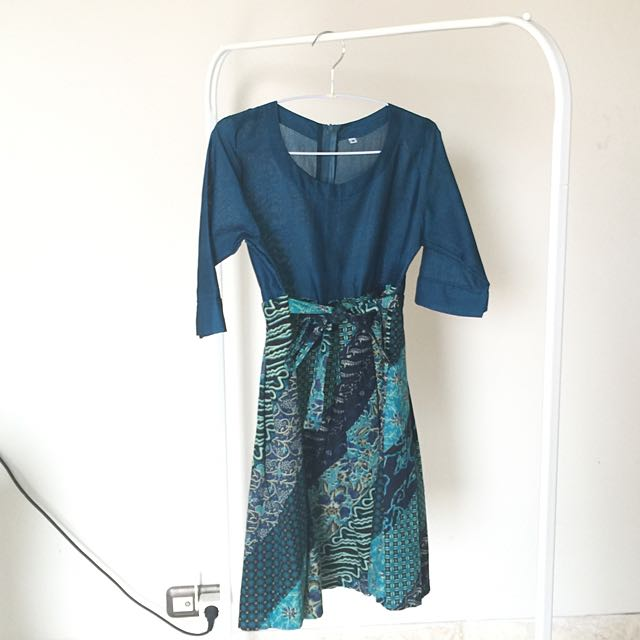 New Teal Green Batik Dress