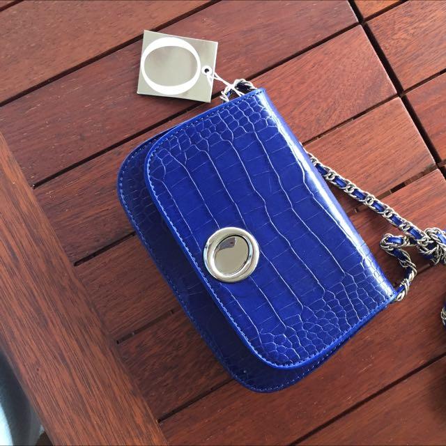Oroton Akala Mini Bag - indigo RRP $345
