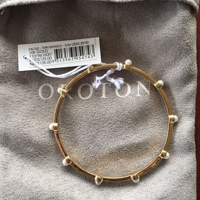 Oroton Facile Gold Bracelet - S/M RRP $125