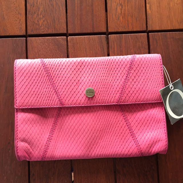 Oroton Rasia Envelope Small Clutch - Pink Lighting RRP $245