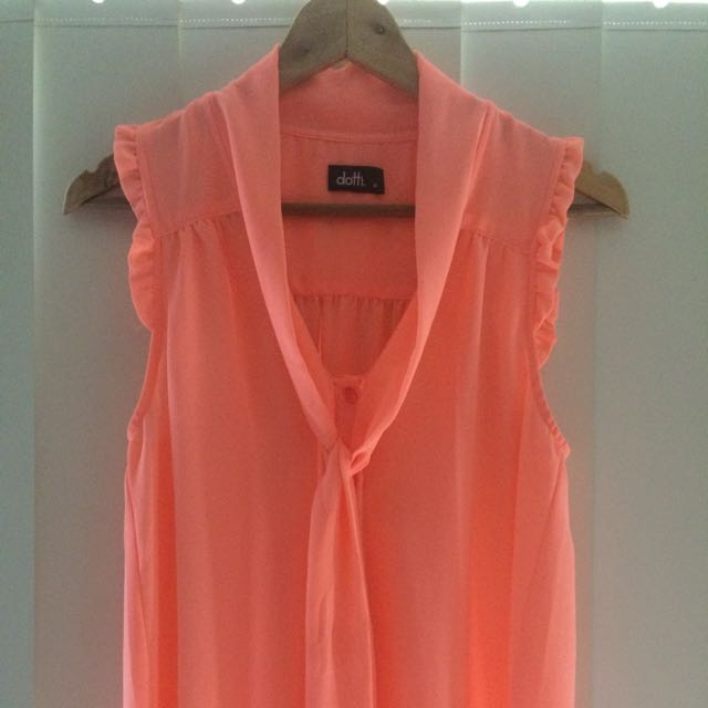 Pastel Orange Dottie Top