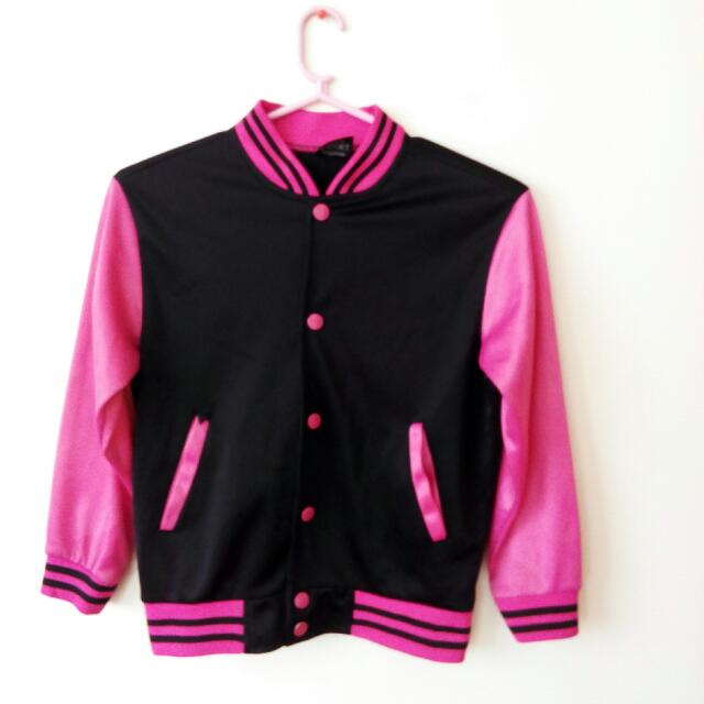 Pink & Black Varsity Jacket