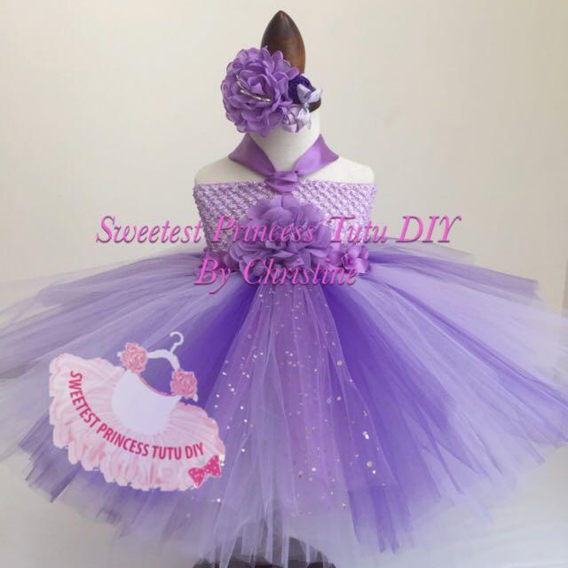 5d26e8ac1b Princess Sofia The First Theme Tutu Dress, Babies & Kids on Carousell