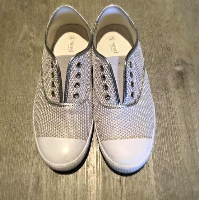 SEED Canvas shoes (silver)