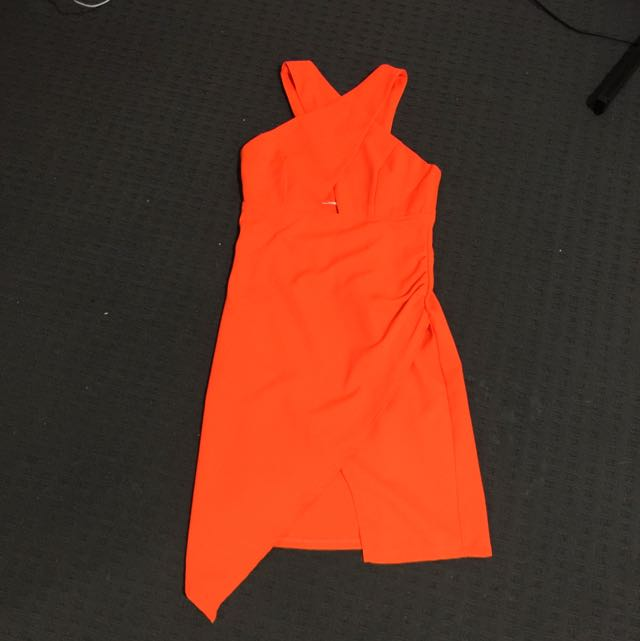 Size 8 Orange Dress