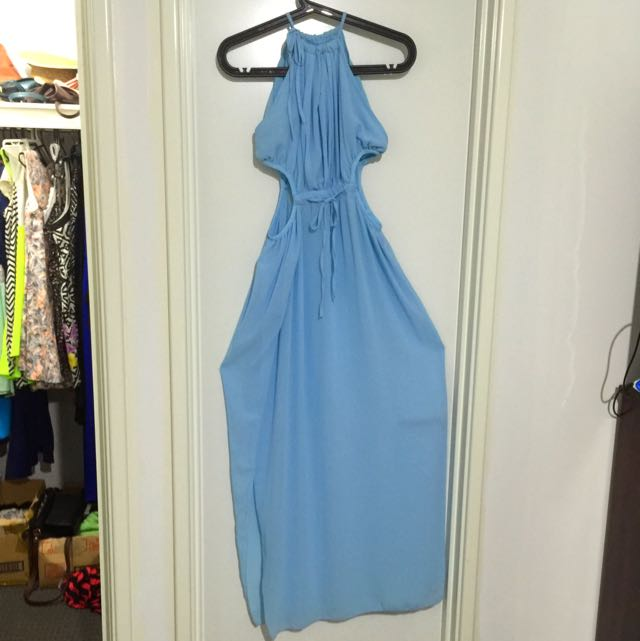 Size M Light Blue Long Dress